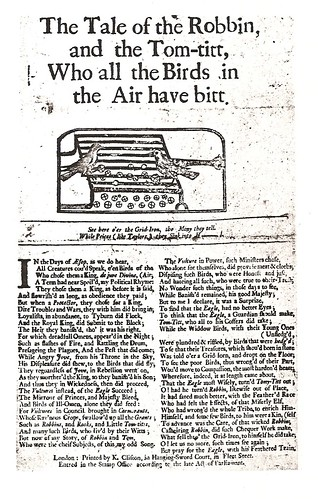 The Tale of Robbin and the Tom-Titt (1730)
