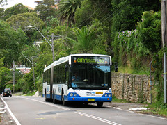 State Transit Authority (Sydney Buses) Volvo B12BLEA articulated 1677 in Barrenjoey Road, Palm Beach, Sydney, Australia. (express000) Tags: sydney palmbeach sydneybuses sydneyaustralia barrenjoeyroad volvobus busesinaustralia statetransitauthority volvob12bleaariculated