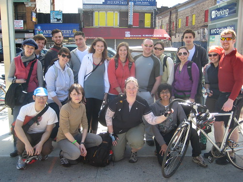 The Entire Crew In Front of the Bike Parking Facility