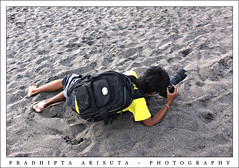 In Action (juzz_arisuta) Tags: pose model hunter teman unik aneh merayap gusdenomadicbali