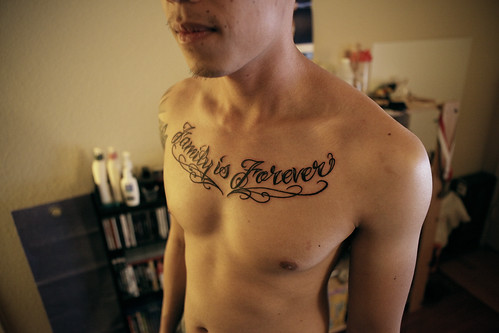 "IMG_5362 · IMG_5303 · chest piece tattoo - ""family is forever"""