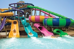 Waterslides (Visit Chicagoland) Tags: family summer water swim fun illinois il amusementpark sixflags greatamerica waterpark waterslides gurnee hurricaneharbor