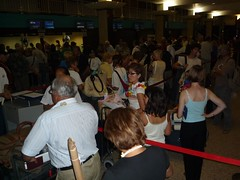 Air France Check In Line at Papeete