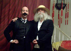 Juan Carlos Zaldívar (left) as Cuban founding father Jose Martí with Walt Whitman
