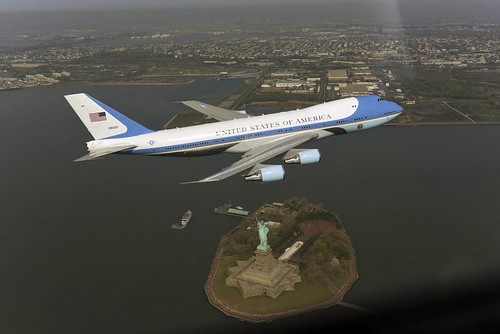 Air Force One $357,000 photo -- Thanks Asshole Obama