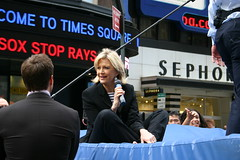 Diane Sawyer on Trampoline