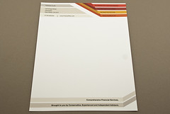 Striped Financial Planner Letterhead (inkdphotos) Tags: financial finance planner advisor plan spending money cash cashflow management education retirement investment riskmanagement client family mortgage lines stripe red orange letterhead