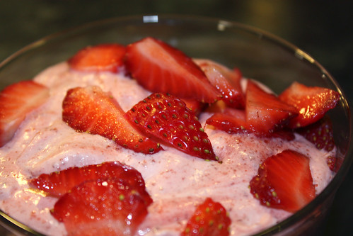 Balsamic Strawberry Mousse
