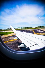 Taking off to YYZ! (Neal Atienza) Tags: city vacation usa holiday newyork window america airplane flying skies flight wing lookout landing laguardia segment airlines takeoff runway aircanada