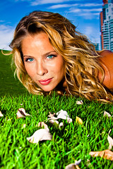 Captured Beauty (eyecbeauty) Tags: sky woman green girl beautiful beauty grass leaves florida miami miamibeach sobe beautifulphoto aplusphoto flickraward platinumgolddoubledragonawards artofimages
