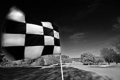 Pin - Prestbury golf glub. (Oliver Wood Photography) Tags: blackandwhite golf mono pin cheshire flag golfcourse river2 prestbury 2for2 river3 flickraward blackdiomond prestbury2