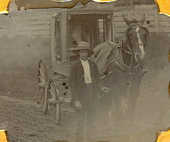Ride anyone? (Mirror Image Gallery) Tags: horse wagon carriage victorian ambrotype farmer 1850