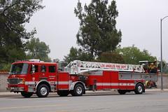 LOS ANGELES FIRE DEPARTMENT (LAFD) (Navymailman) Tags: city truck fire los angeles lafd ladder department losangelesfiredepartment losangelescityfiredepartment