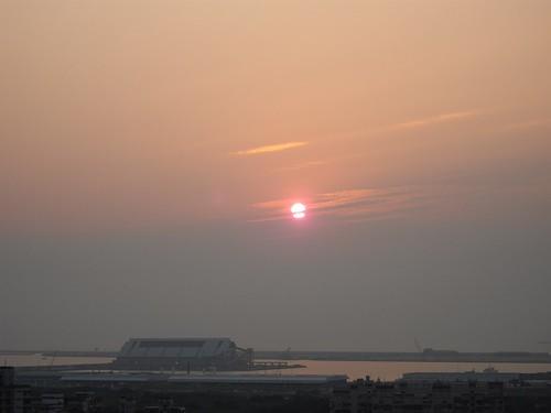 龜馬山的夕陽
