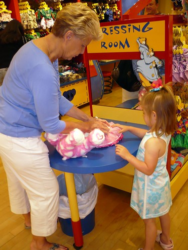 Build-A-Bear Outing -- Aunt Cheryl and Alana