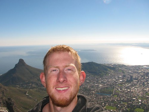 me on top of Table mtn with the city in the background