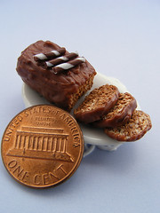 Marble Cake (Shay Aaron) Tags: food scale cake fruit miniature cookie handmade chocolate fake mini polymerclay fimo tiny donut doughnut bagel tart 12th truffle 112 pretzel dollhouse petit bundt dunkindonuts chocolatechips marblecake