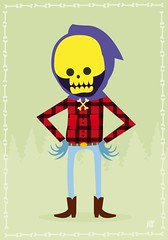 skeletor as a lumberjack. (Andrea // AT Graphics!) Tags: italy comics skull comedy colours graphic cs2 arts artists parody illustrator draw motu 2009 vector lumberjack heman skeletor masteroftheuniverse atgraphics andreatallone