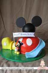 mickey mouse clubhouse fondant birthday cake (ArtisanCakeCompany) Tags: birthday blue wedding red white black green yellow cake oregon portland mouse shower cupcakes weddingcake banner mickey special bakery figure salem occasion grooms clubhouse artisan keizer bakeries fondant artisancakecompany