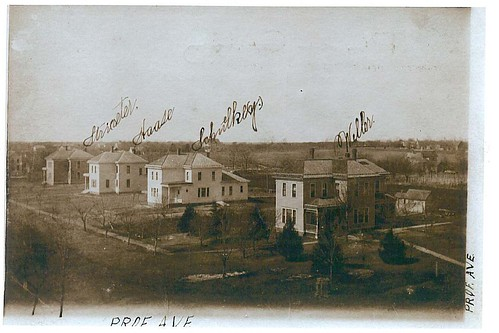 Old Photograph of Faculty Row in Seward, Nebraska