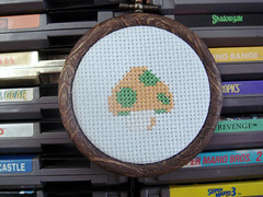 1Up Mushroom (benjibot) Tags: crossstitch crafts videogames nes supermariobros