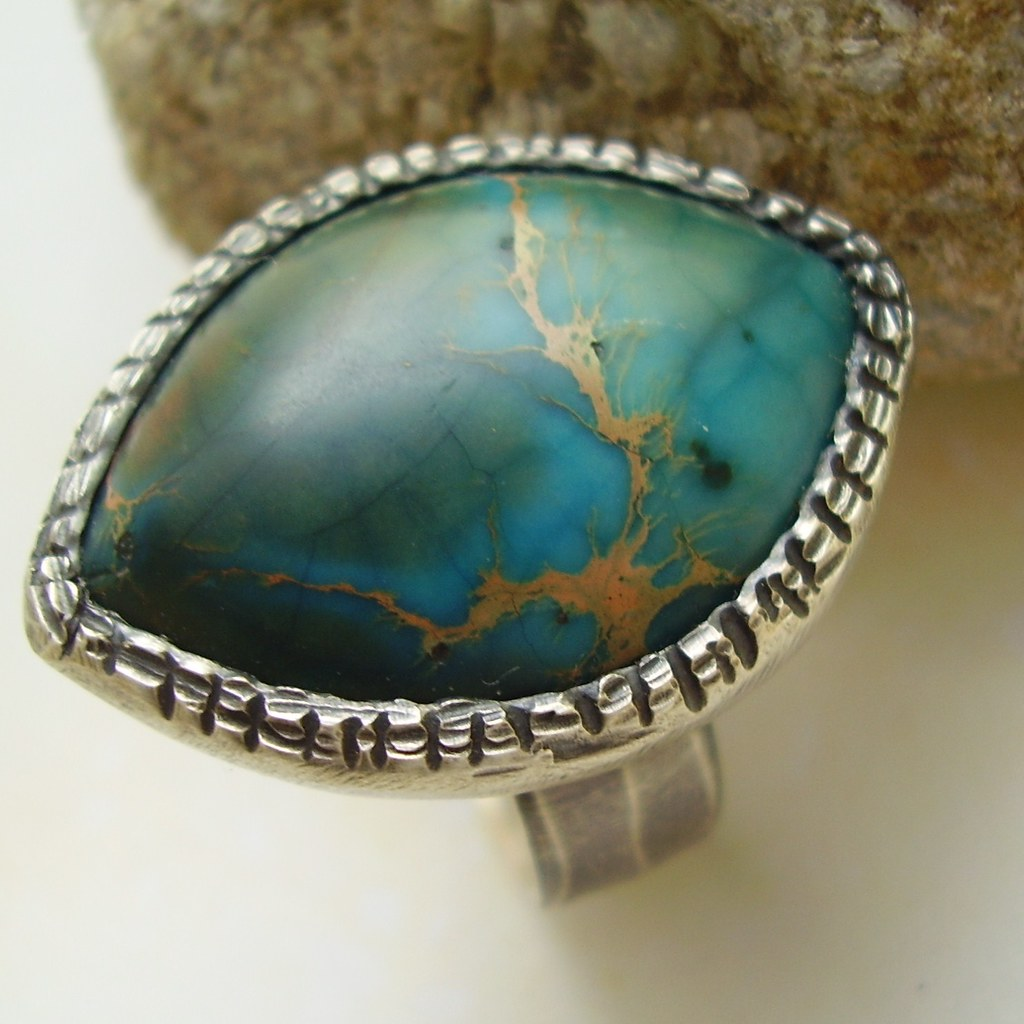 Cenote - Sterling Silver and Variscite Ring