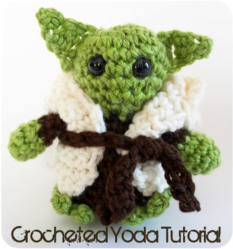 amigurumi gift present for kids: little yoda crochet tutorial