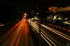 left trails right trails (Lohb) Tags: road longexposure night canon long exposure lighttrails efs 1022 500d busyroad