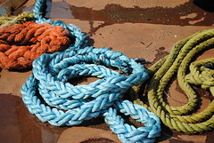 Ropes on the Barge (Sally E J Hunter) Tags: toronto rope portlands moo1 topwpl