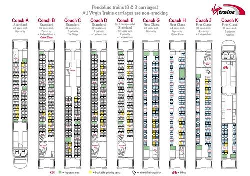 Virgin Trains - Pendolino, plan