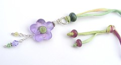 Free Flower Necklace Giveaway (Glittering Prize - Trudi) Tags: flower glass necklace beads crystal silk free jewellery swarovski jewelery lampwork sterlingsilver givaway fhfteam britlamp