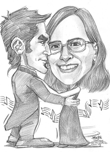 slow dance caricature