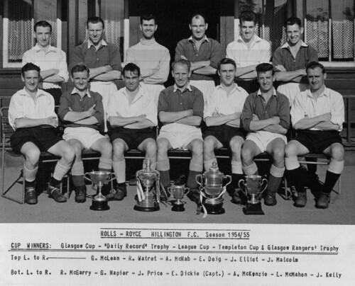 Rolls Royce Football Team 1955