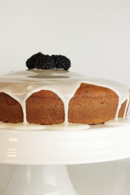 Lemon Glazed Blackberry Cake