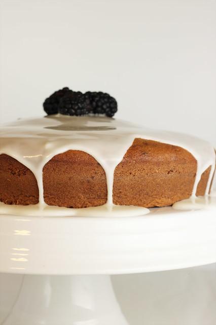 Lemon Glazed Blackberry Cake