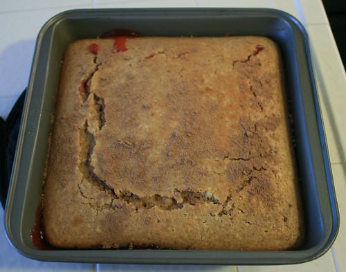 Upside Down Cherry Cobbler Cake