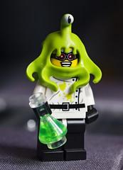 brain slug potion success! (Johnson Cameraface) Tags: macro 50mm spring lego alien may olympus f2 minifig zuiko scientist conquest brainslug 2011 zd e620
