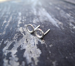 Silver Loop Circle Earring Studs