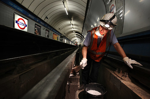 Cleaning Pimilico Station photo by Peter Macdiarmid - Getty Images/Peter Macdiarmid