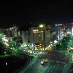Night road (tearoom) Tags: road night lights hiroshima ricoh tiltshift grd grd2 grdii tiltshiftmaker