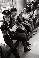 a girl with a gun (fly) Tags: woman asia gun cosplay bangkok group uniforme siamparagon fly simonkolton