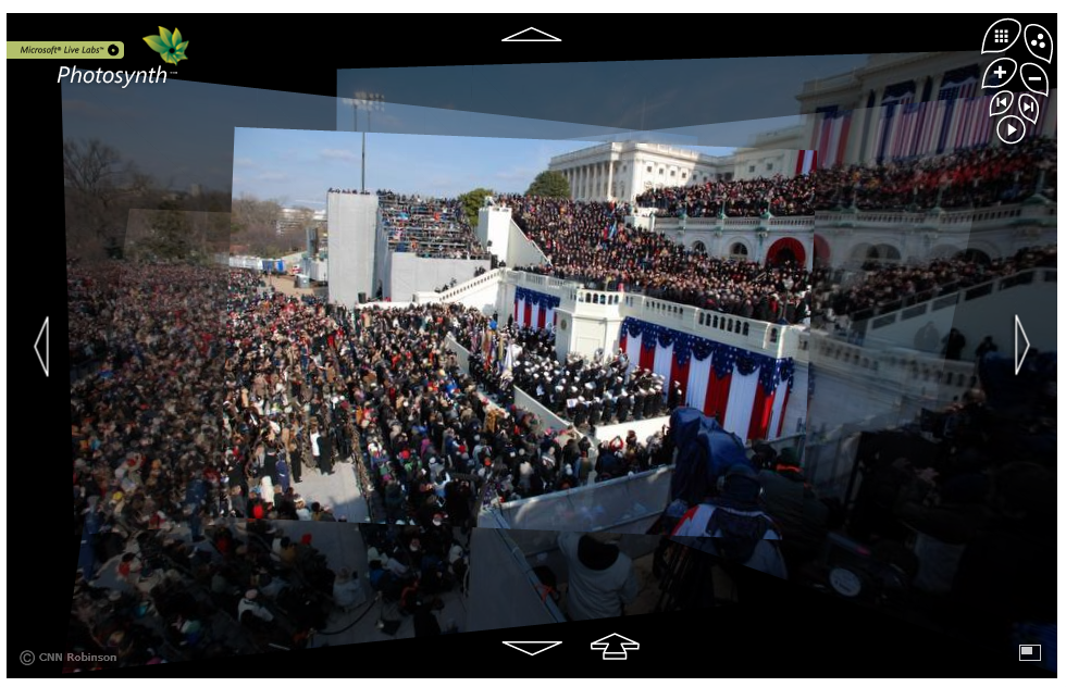 Microsoft PhotoSynth of Today's Inaguration on CNN