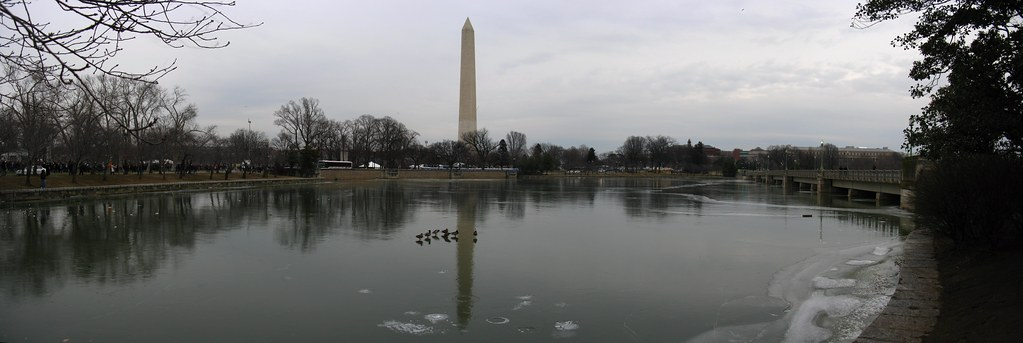 2009 01 18 - 0323-0326 - Washington DC - Washington Memorial from Tidal Basin