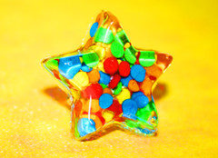 Rainbow star ring (kristaface) Tags: cute glitter necklace colorful candy sweet jewelry plastic teen kawaii resin tween kristaface