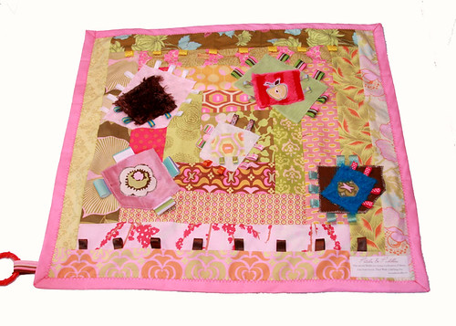 Pink Fuzzy Activity Blanket