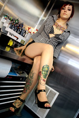 IMG_7096 (Venessa Nina) Tags: hello flowers woman hot cute sexy girl tattoo ink photography skull model industrial dress cupcake nina alison murphy inked tats heals kity venessa fivefootmohawk venessaninaphotography