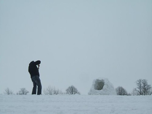 Photographing the igloo