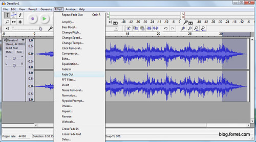 Make iPhone ringtone with Audacity