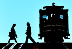 We Take The Streetcar (TJ Scott) Tags: sanfrancisco silhouette streetcar cinematic ignisart tjscott