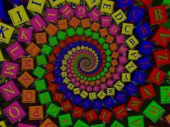 Doyle Alphabet (fdecomite) Tags: baby spiral geometry cube math letter doyle alphabet povray